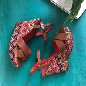 American Eagle Summer Wedges Size 6.5